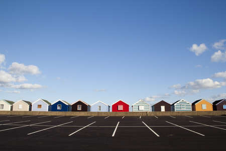 Beach Huts at Southwold, Suffolk , England, viewed from the car park Stock Photo - 17094766