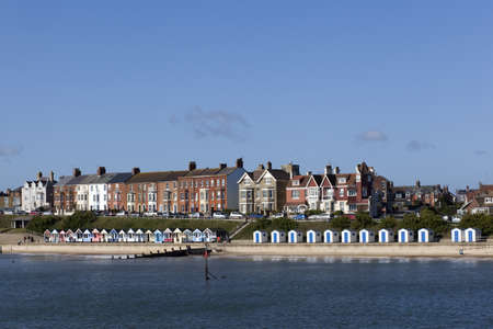 Southwold Sea Front, Suffolk , England on a sunny day.