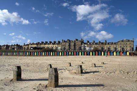 Lowestoft Beach, Suffolk, England on a sunny day