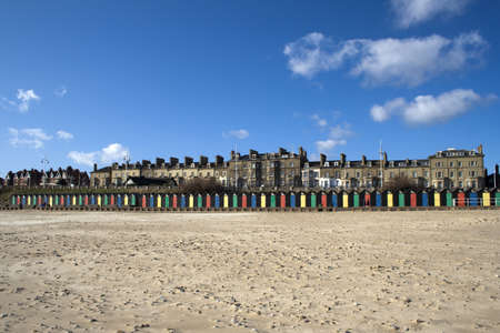 Lowestoft Beach, Suffolk, England on a sunny day photo