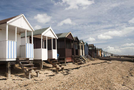 Beach Huts, Thorpe Bay, near Southend, Essex, England photo
