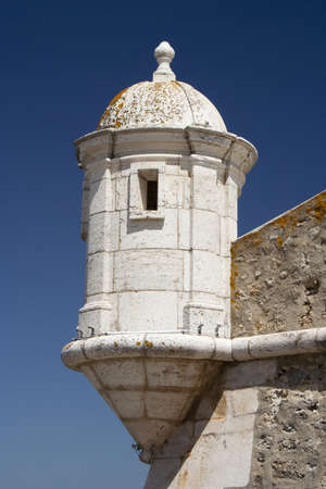 Tower of the ancient fort in Lagos, Algarve, Portugal
