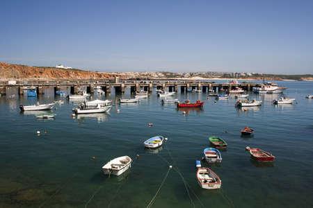 Fishing boats moored at Sagres Port, Algarve, Portugal