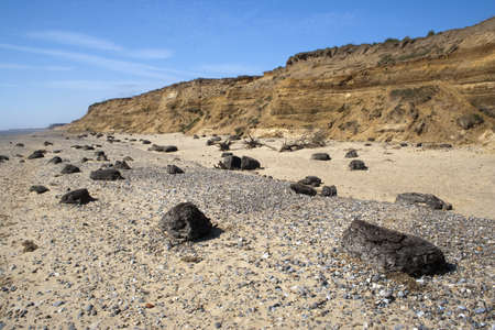 Coastal erosion at Benacre, Suffolk, England