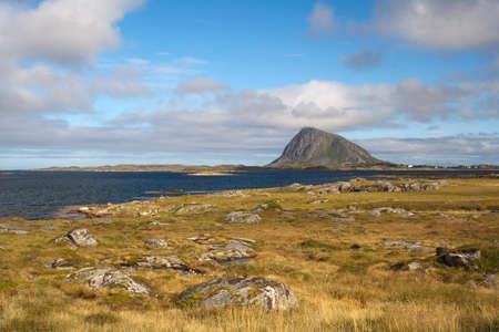 Hoven mountain, Gimsoya, Lofoten Islands, Norway, Scandinavia Stock Photo
