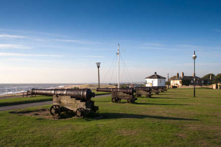 southwold: Cannons on Gun Hill, Southwold, Suffolk, England  Europe