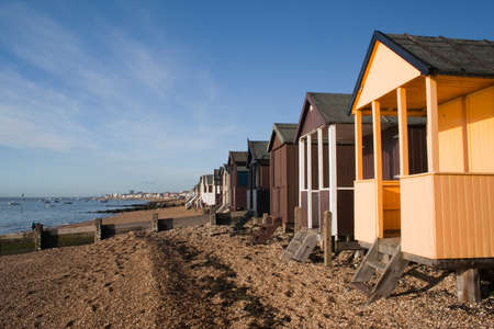 Beach Huts, Thorpe Bay, near Southend, Essex, England