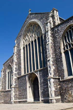 St Michaels Church, Beccles, Suffolk, , England, against a blue sky