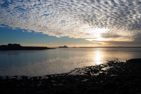 View across Thorney Bay, Canvey Island, Essex, England Stock Photo