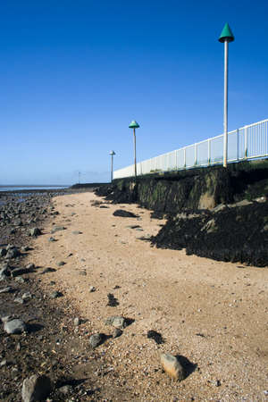 Concord beach, Canvey Island, Essex, England, on a sunny day. Stock Photo