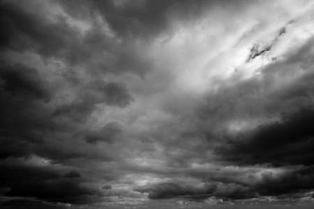 Dramatic dark storm clouds