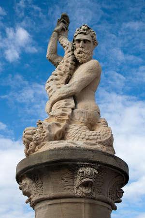 neptuno: Estatua de Neptuno en Lowestoft, Suffolk, Inglaterra