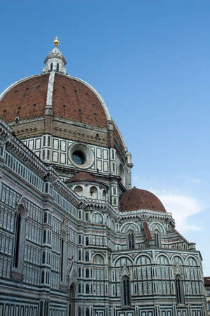 The Duomo in Florence, against a blue sky