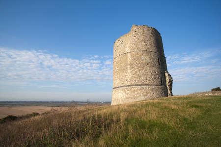 Hadleigh Castle and surrounding countryside, Essex, England, United Kingdom Stock Photo