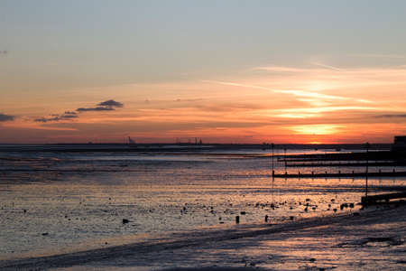 essex: Sunset at  Southend-on-Sea, Essex, England