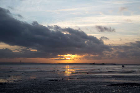 essex: Winter Sunset at Southend-on-Sea, Essex, England