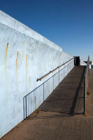 ramp: Ramp along the sea wall at Canvey Island, Essex, England