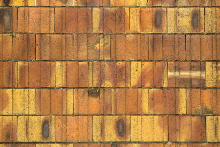 terracotta: Close-up image of terracotta tiles