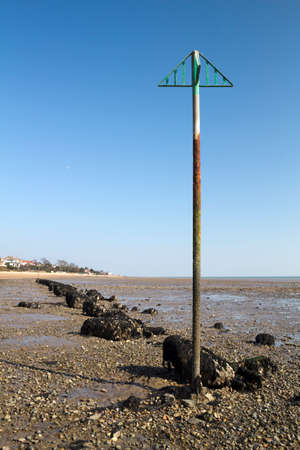 Rocks on West Mersea Beach, Essex, England