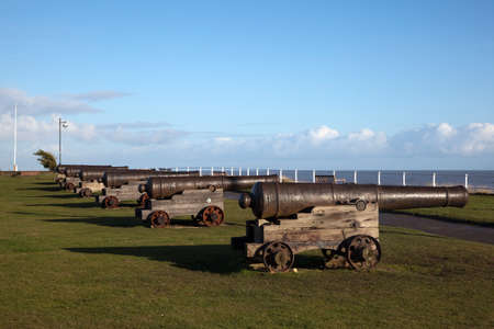 southwold: Cannons on Gun Hill, Southwold, Suffolk, England