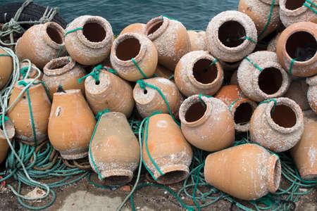 Terracotta lobster pots used by Portuguese Fishermen