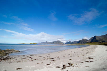 Yttersand Beach, located on the northern tip of Moskenesoy, Lofoten Islands, Norway