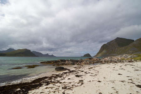 Vik Beach, Vestvagoy, Lofoten Islands, Norway Stock Photo