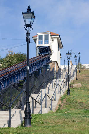 Victorian cliff lift at Southend-on-Sea,  Essex, England  Stock Photo