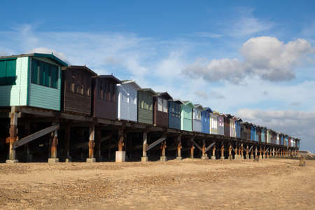 Beach Huts at Frinton-on-Sea, Essex, England