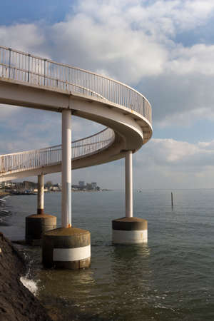 Footbridge at Leigh-on-Sea, near Southend-on-Sea, Essex, England