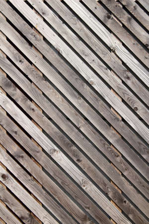 Close-up image of wood panelling Stock Photo