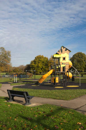 Childrens Playground in Wickford Memorial Park, Essex, England