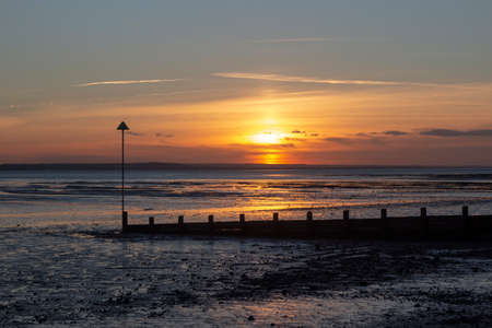Sunset at  Southend-on-Sea, Essex, England