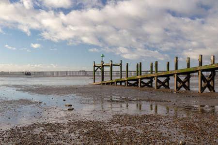 Jetty on Jubilee beach, Southend-on-Sea, Essex, England