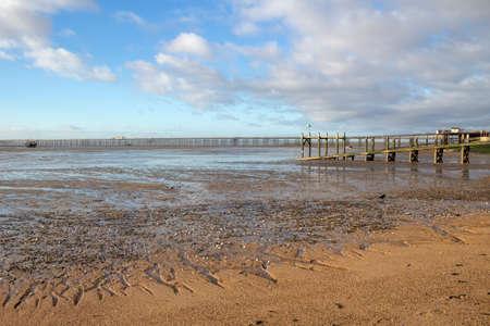 Jubilee beach, Southend-on-Sea, Essex, England Stock Photo