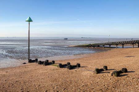 Thorpe Bay beach near Southend-on-Sea, Essex, England