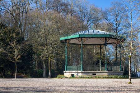 Bandstand in Public Gardens, Saint Omer, France
