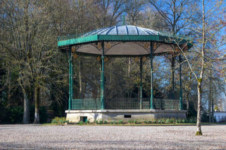 Bandstand in the Public Gardens at Saint Omer, France Stock Photo
