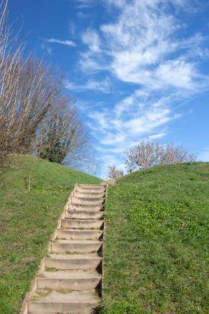 Steps in Bergues, Nord Pas de Calais, France Stock Photo