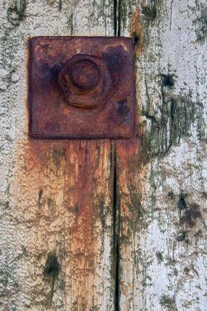 Closeup image of rusty bolt
