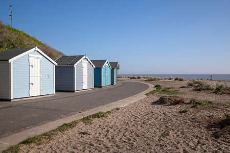 Pakefield beach, Suffolk, England, on a sunny day Stock Photo