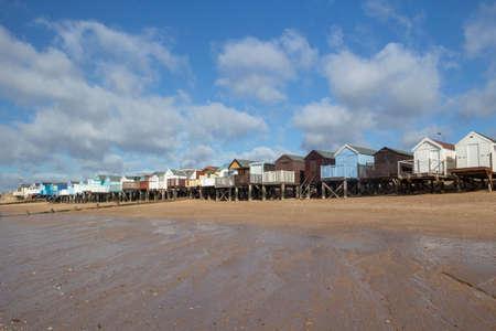 Thorpe Bay beach, near Southend-on-Sea, Essex, England