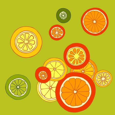 citrus: Citrus card, vector illustration