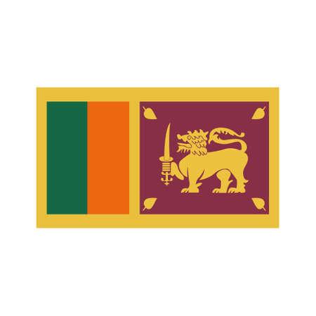 flag of Sri Lanka flat icon, vector color illustration