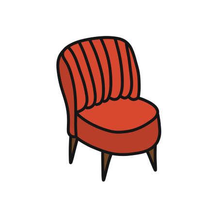 chair doodle icon, vector color illustration Ilustração Vetorial