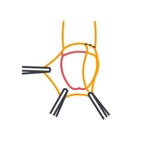 circumcision line icon, vector simple illustration Illustration