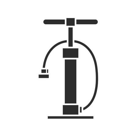 bicycle pump line icon, vector simple illustration