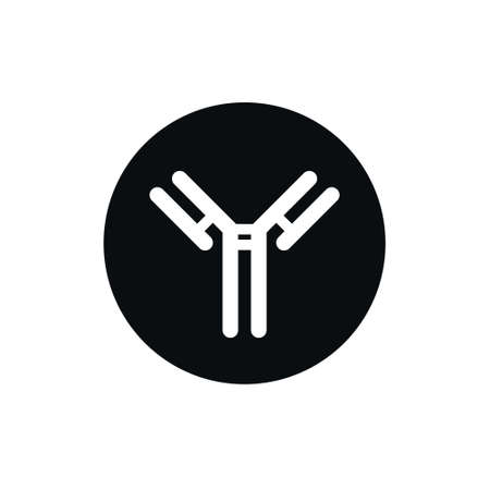 antibody, immunoglobulin line icon, vector simple illustration Vectores