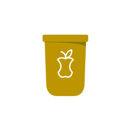 compost flat icon, vector color illustration