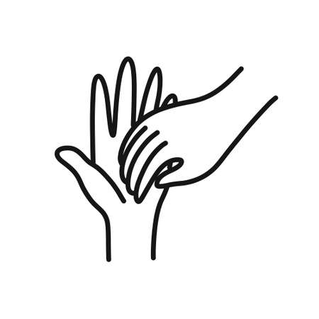 hand washing doodle icon, vector line illustration